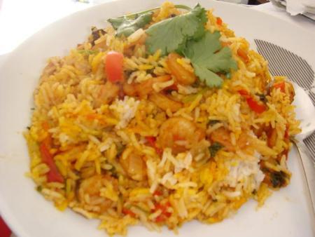 Chicken Tikka & Prawn Biryani
