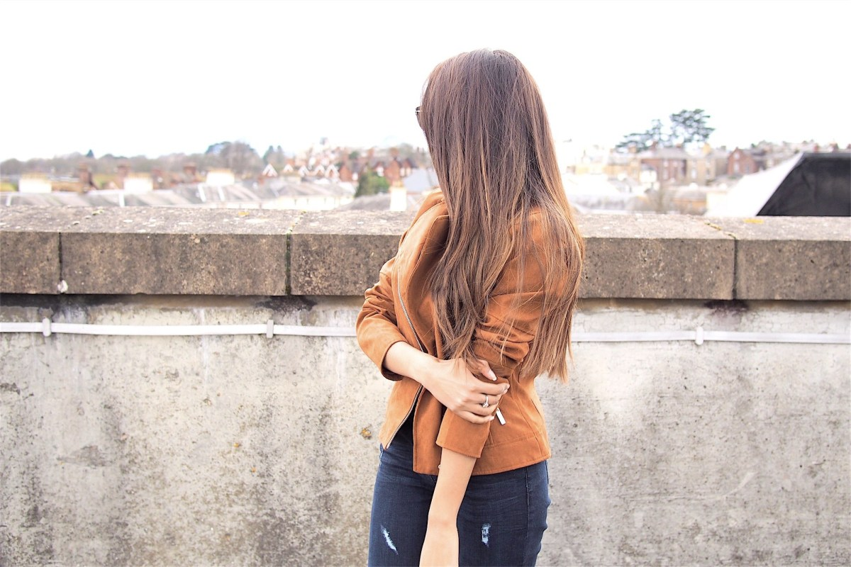 Tan jacket outfit