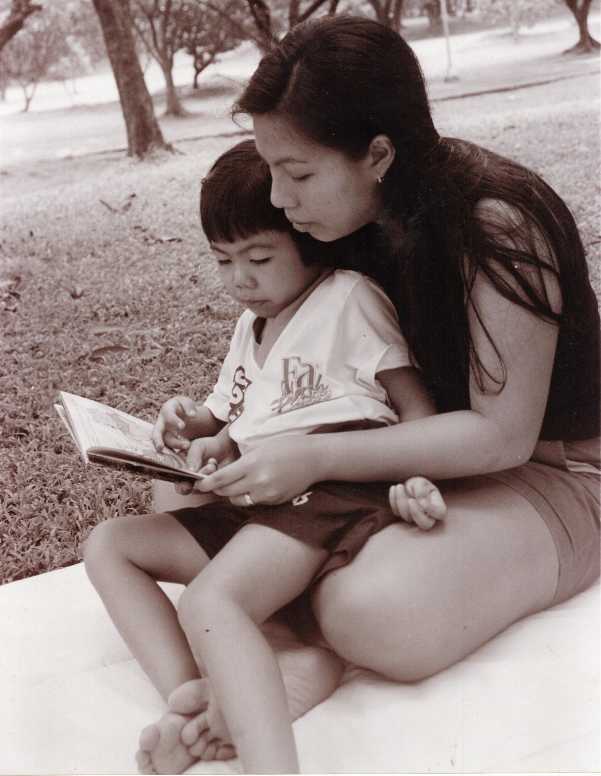 My sister Sinag and her daughter Raya