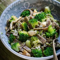 Pizzoccheri con broccoli e formaggio di capra