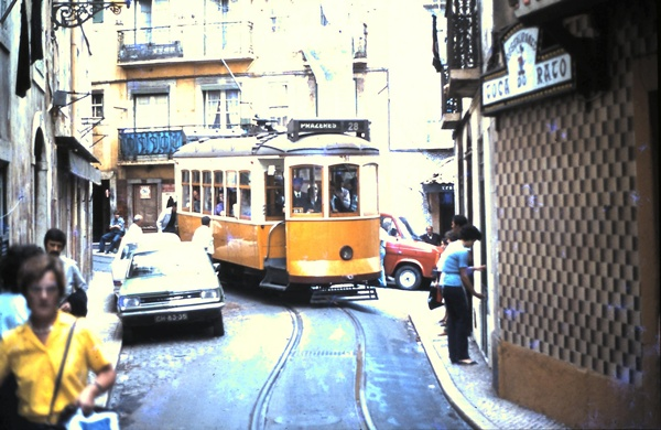 A tram in Lisbon - Photograph courtesy of Ric Francis