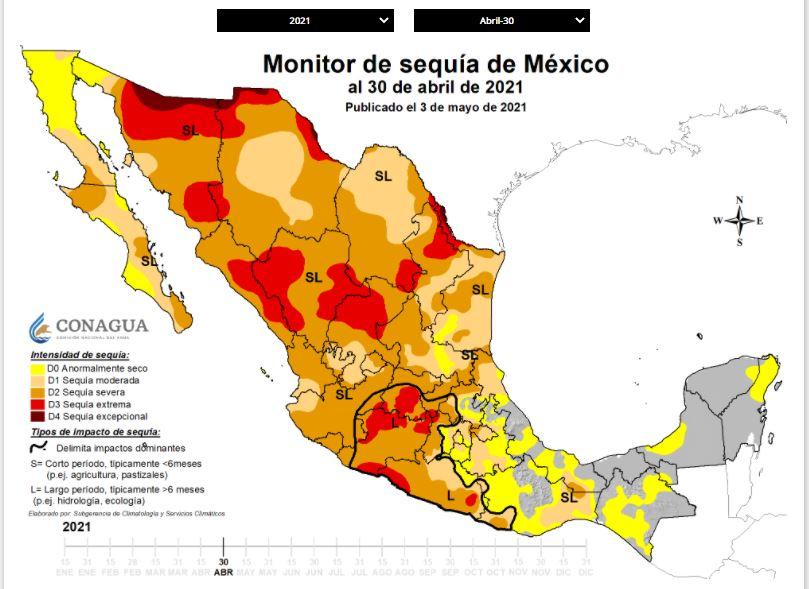 Captura monitor de sequía