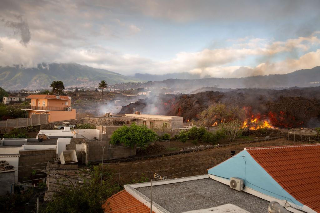 El volcán de La Palma, en las islas Canarias, hizo erupción. Foto: Desiree Martin | AFP
