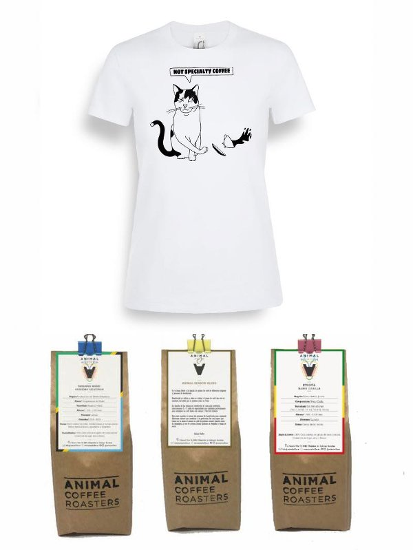 Oferta Pack Specialty Coffee para filtro + camiseta Mujer