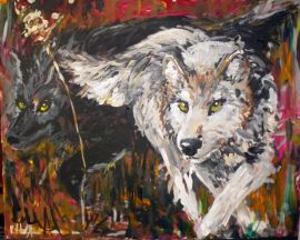 """Alpha's Shadow"" Acrylic on Canvas, 2012, *SOLD*"