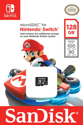 Scheda di Memoria MicroSDXC per Nintendo Switch (128GB)