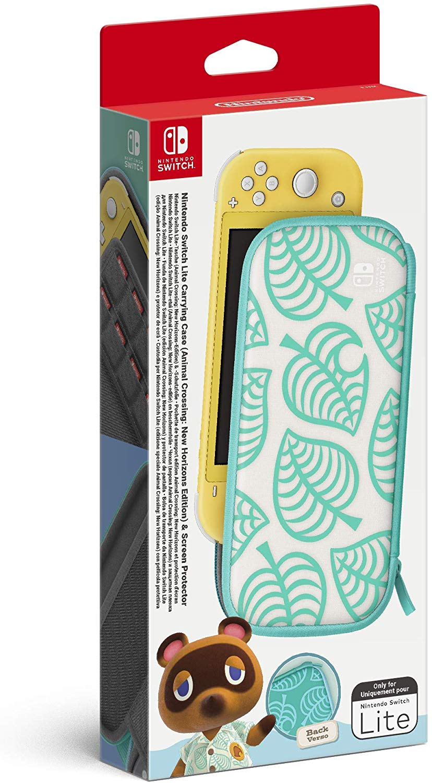 Custodia e Pellicola Protettiva Per Nintendo Switch Lite Animal Crossing: New Horizons Edition