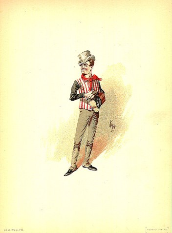 A Tom Swifty is a form of Wellerism, derived from the character of Samuel Weller, witty servant of Mr. Pickwick in the story Pickwick Papers (1836–37) by Charles Dickens. (Image courtesy of Wikipedia.)