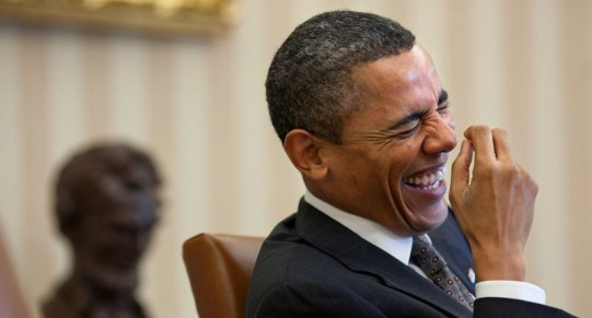 He'd probably be laughing too. (Official White House photo by Pete Souza)