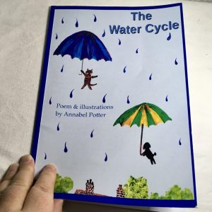 Photo of a children's poetry picture book about the water cycle