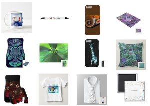 Printed products with abstract designs