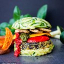 vegan burger zucchini tomato pepper pesto best of vegan competition daily mail