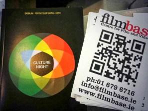 Filmbase celebrating Culture Night 2013