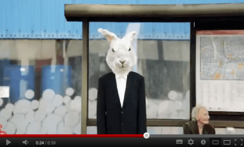 Giant White Rabbit - Easyjet Commercial