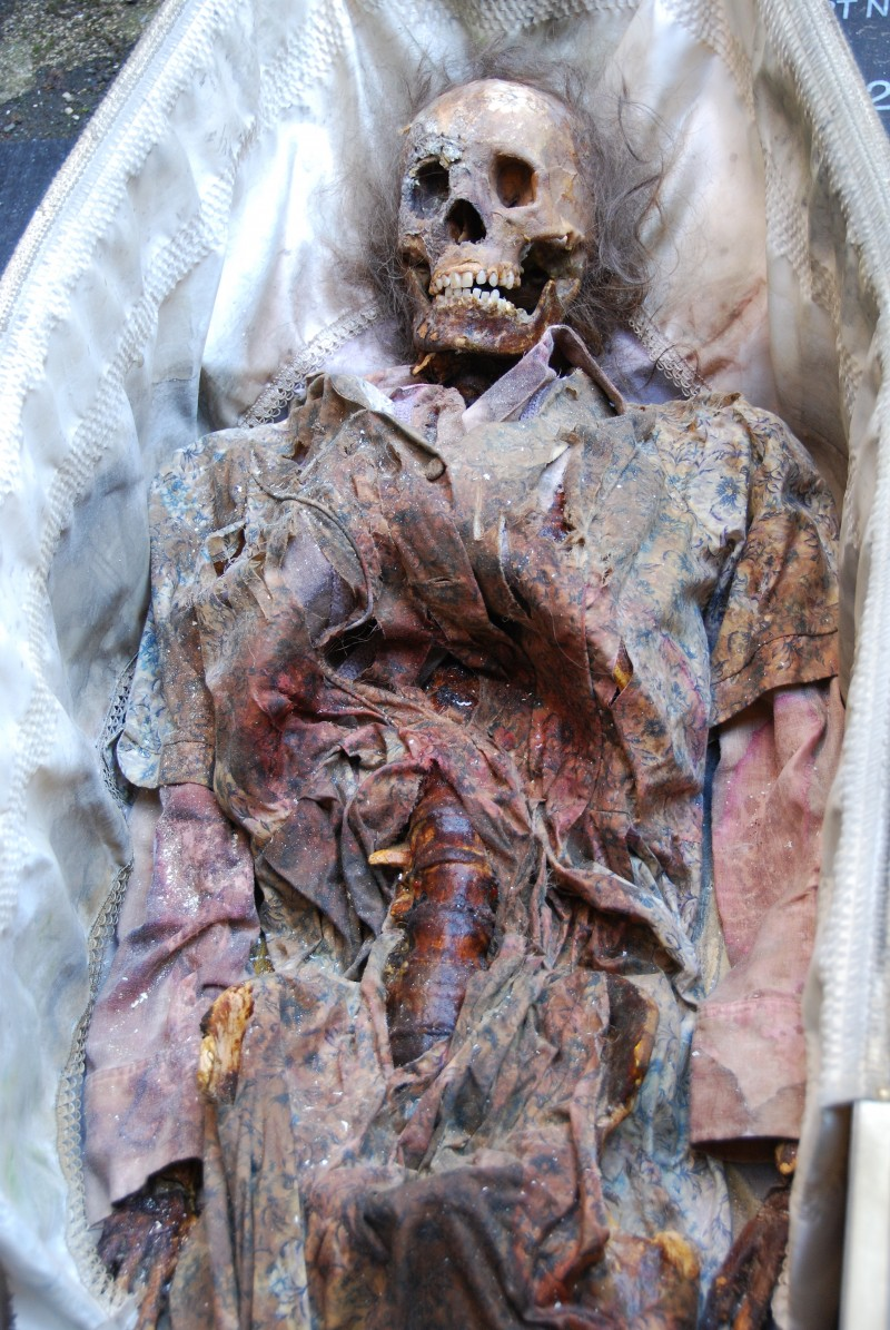 mummified skeleton for Silent Witness TV series