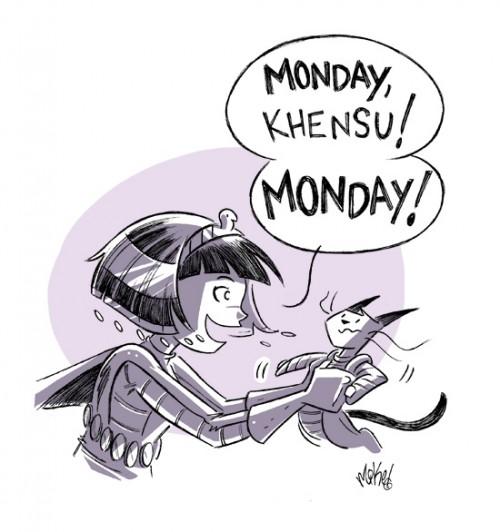 Cleopatra on Monday