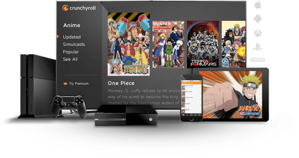 Crunchyroll video feed