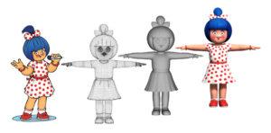2D to 3D Animated Character Maac Kolkata