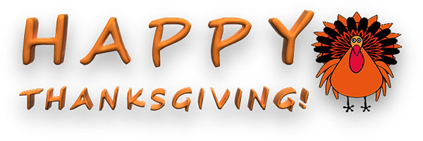 Free Thanksgiving Clipart - Thanksgiving Animations (600 x 200 Pixel)