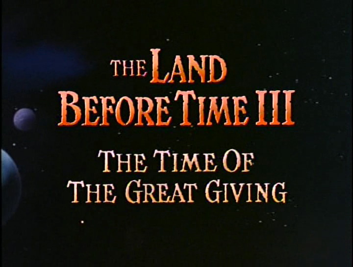 The Land Before Time III: The Time of the Great Giving (1995)