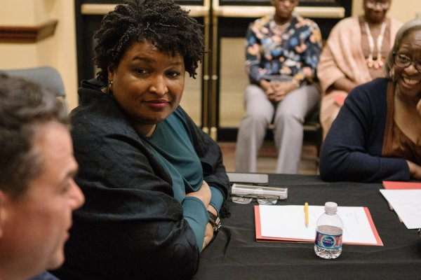 For Stacey Abrams, a Date With History — or at Least the People Who Write It