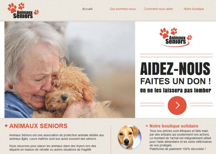 Site Internet Animaux Séniors