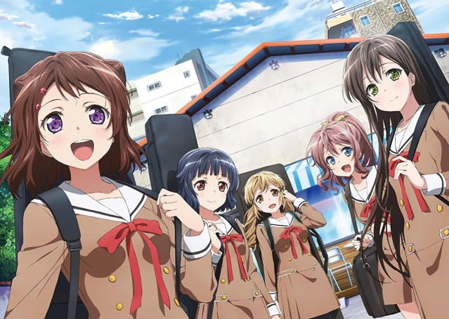 A key visual from BanG Dream!'s first season