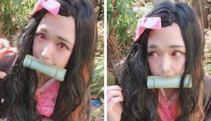 鬼滅之刃:日本小哥cos大叔版禰豆子,網友說辣眼睛,結果他拿出了女裝照。