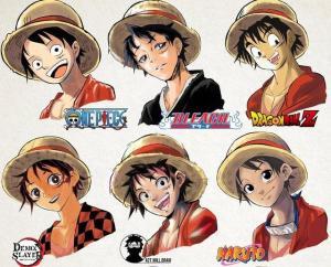 不同畫風動漫人物大賞:JOJO艾莎公主太亮眼,海賊王路飛被玩壞。