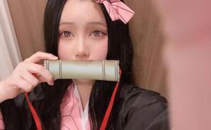 鬼滅之刃:日本人氣偶像cos禰豆子,網友:那一刻我戀愛了。