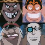海賊王:7個知名海賊團的3大戰力,紅发團力壓黑胡子團。