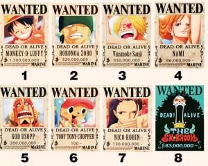 海賊王:賞金大全!數十個人氣海賊懸賞,喬巴100賞金打幾億的架。