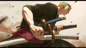 海賊王插畫分享,特拉男穿上禁斷修女裝,索大拔刀似拍電影