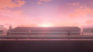 雪乃に走り寄る由比ヶ浜の図