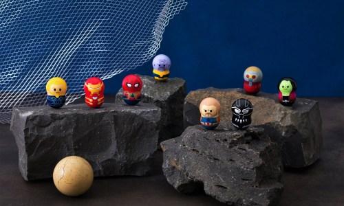 """アイアンマンから""""最凶最悪""""の〈ラスボス〉サノスまで! MARVELキャラクターがナッツ型フィギュア「クーナッツ」に登場"""