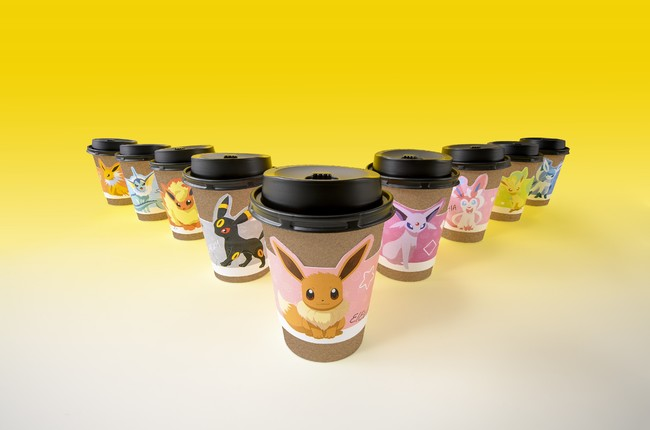 大人気ポケモン・イーブイのカップホルダー用スリーブ9種を、『Sho-Comi』でゲット!!