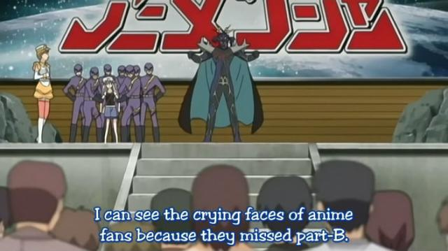 I think this is only the second time an anime has even mentoned the B-part