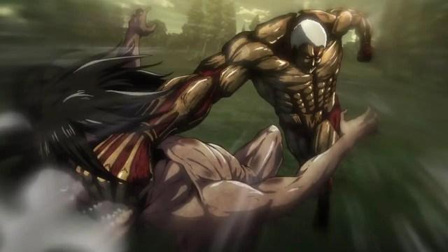 best anime fight - eren vs armored titan