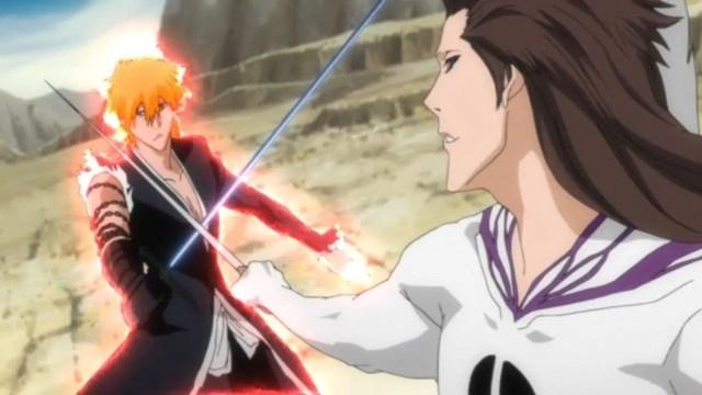 Ichigo vs Aizen  anime fight
