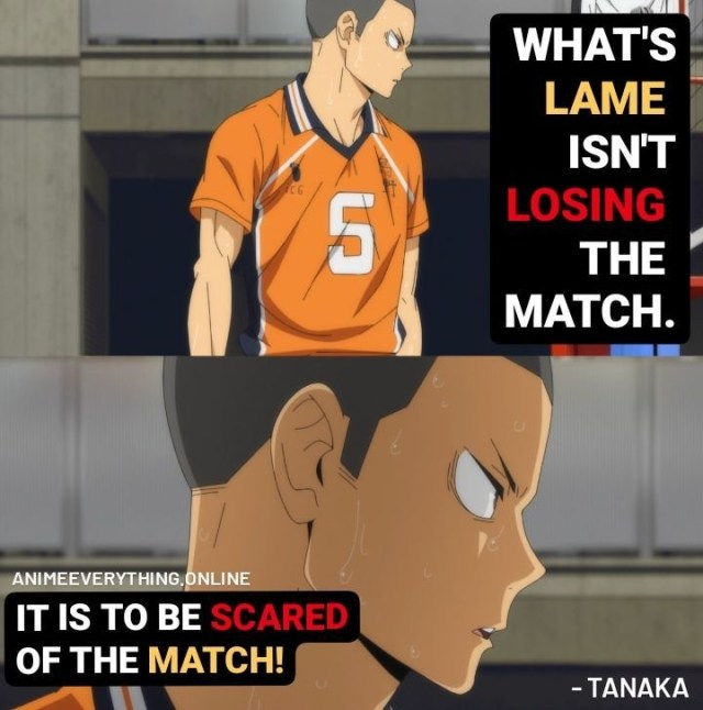 Haikyuu! - Tanaka quotes