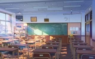 Anime style school