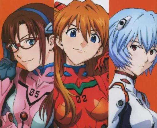Mari, Asuka and Rei