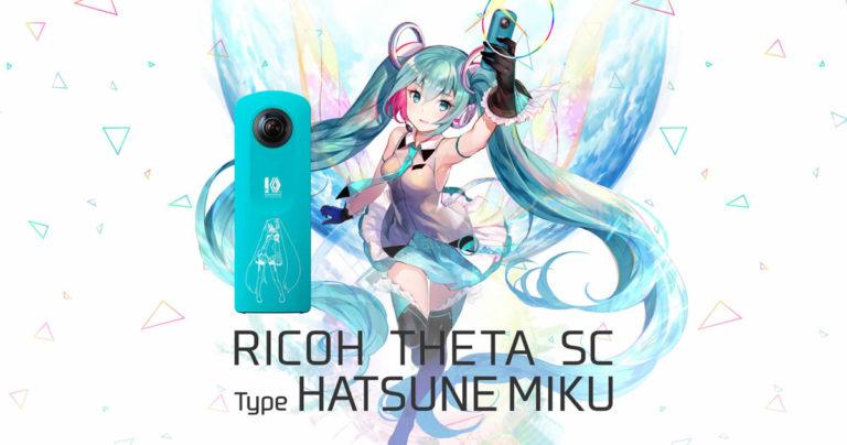 RICOH annoncerer THETA SC Type Hatsune Miku 360 grader kamera