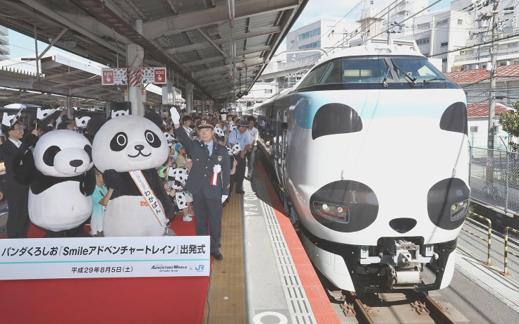 Panda-tema Adventure World Express i Osaka