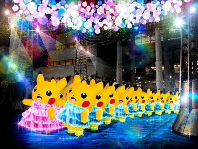 Yokohamas sommernætter er fyldt med Pikachu på parade