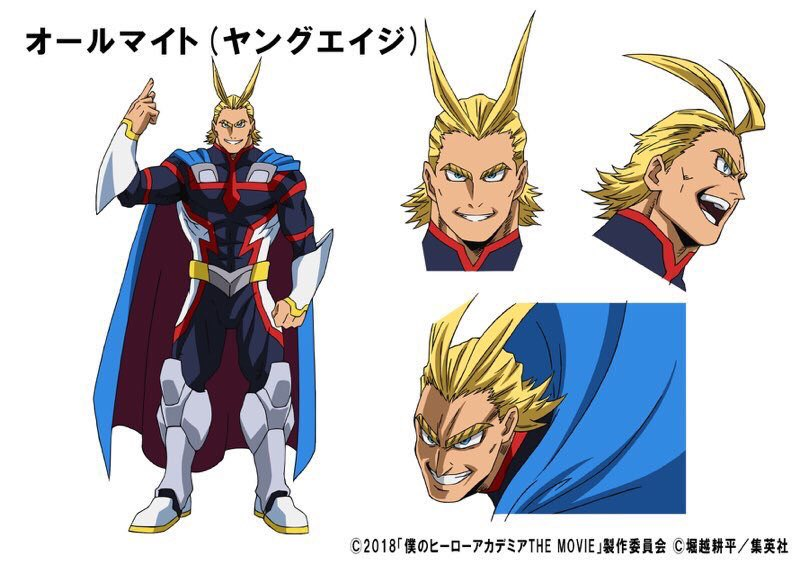 My Hero Academia: Two Heroes film unge All Might og fest tøj designs