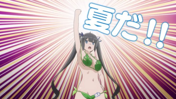 Is It Wrong to Try to Pick Up Girls in a Dungeon? II OVA trailer viser Hestia i badedragt