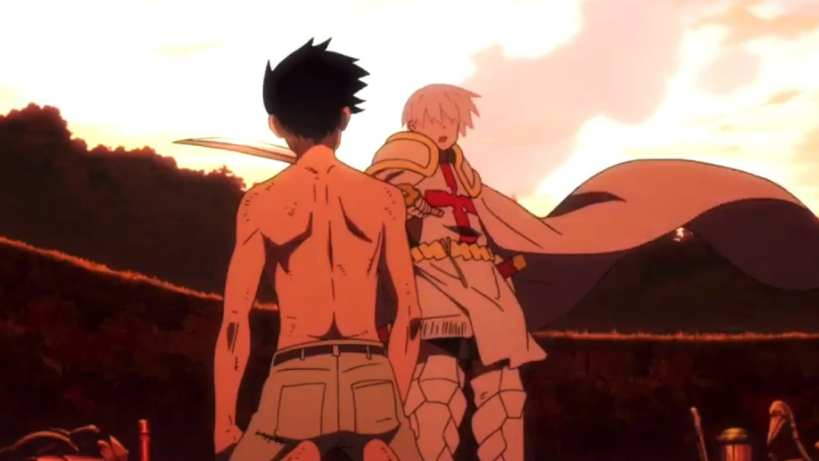 Shinra and Sho Kusakabe face off