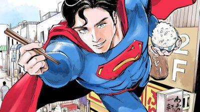 Gourmet Manga Featuring Superman in Kodansha's Evening Magazine