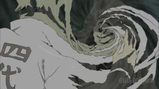 Tobi using Kamui vs Minato